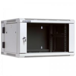 """Szafa rack 19"""" 6U 600x550, wisząca, z szybą, dwusekcyjna, szara (Linkbasic WCC06-655-BAB-C)"""