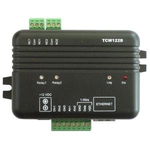Kontroler IP, WE cyfrowe/analogowe, WY przekaźnikowe, e-mail, SNMP (TCW122B-CM)