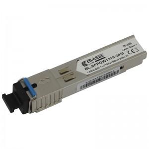 Moduł SFP WDM, SM SC, 20km, 1,25G, TX:1310nm, industrial (Base Link)