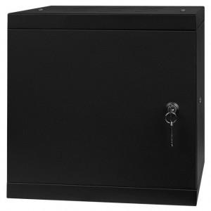 """Szafa rack 10"""" 6U 295x300, wisząca, metalowa, jednosekcyjna, czarna (Stalflex)"""
