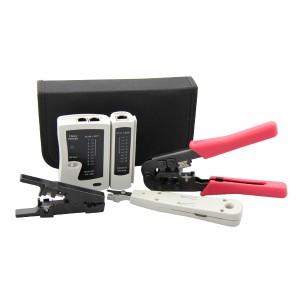 Zestaw narzędzi z testerem okablowania (BL-TS4107)