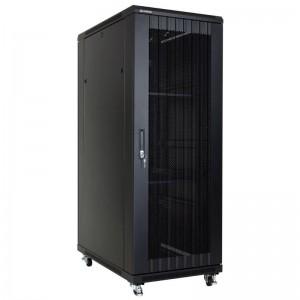 """Szafa rack 19"""" 37U 600x1000, stojąca, perforowana, czarna (Linkbasic NCB37-610-IFA-C)"""