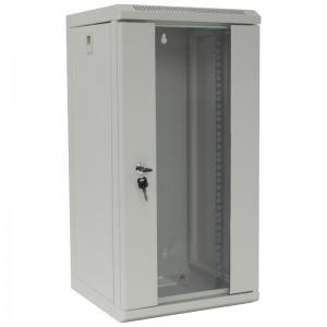 """Szafa rack 10"""" 12U 312x300, wisząca, z szybą, jednosekcyjna, szara (Base Link BL-SRW101230SM-1S)"""