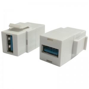 Adapter keystone USB 3.0, żeńskie (USB A-A)