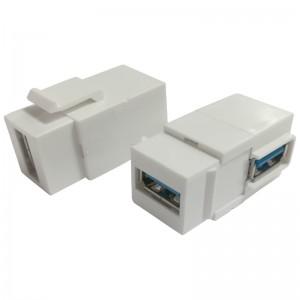 Adapter keystone USB 3.0, żeńskie, dolne wyjście (USB A-A)