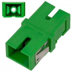 Adapter światłowodowy SC/APC, jednomodowy, simplex, bez kołnierza (no flange)
