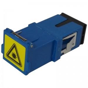 Adapter światłowodowy SC/PC, jednomodowy, simplex, bez kołnierza (no flange)
