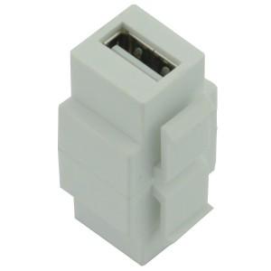 Adapter keystone USB typ A/B żeńskie (USB A-B)