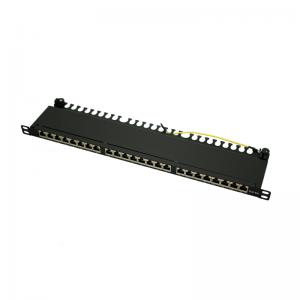 """Patch panel 24 porty STP kat. 6a RJ-45 0,5U 19"""" z podstawką"""