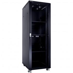 """Szafa rack 19"""" 37U 600x800, stojąca, z szybą, czarna (Linkbasic NCB37-68-BAA-C)"""