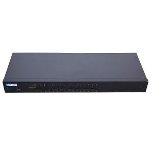"""Przełącznik KVM 16-portowy, 19"""" (Base Link BL-KVM1916M)"""