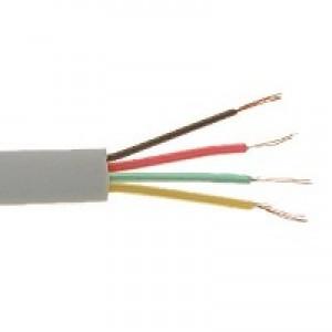 Przewód telefoniczny płaski, 4-żyłowy (KP4), biały, 100m