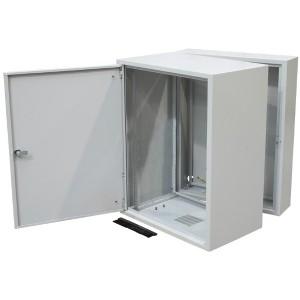 """Szafa rack 19"""" 18U 600x500, wisząca, metalowa, dwusekcyjna, szara (ZPAS WZ-3505-01-M5-011)"""