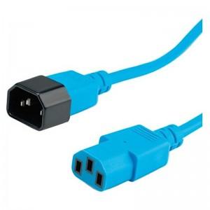 Kabel zasilający IEC320 C14/C13, 1.8m, niebieski