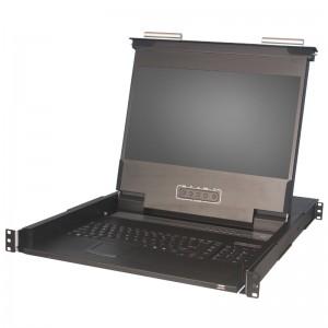 "Konsola KVM LCD | 17,3"" Full HD | 8-portowy KVM | pojedyncza szyna | host USB (Annso KVM-1708WP-AST-M2)"