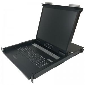"Konsola KVM LCD | 19"" | 32-portowy KVM | RJ-45 | pojedyncza szyna (Annso KVM-1932ASL-M2)"