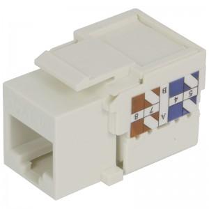 Moduł keystone UTP, kat.6, zaciskany od góry, biały, 18mm