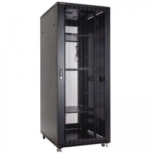 """Szafa rack 19"""" 42U 800x1200, stojąca, z perforacją, czarna (Linkbasic NCB42-812-IFA-C)"""
