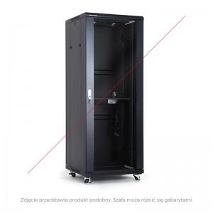 "Szafa rack 19"" 37U 600x600, stojąca, z szybą, czarna (Linkbasic NCE37-66-BAA-C)"