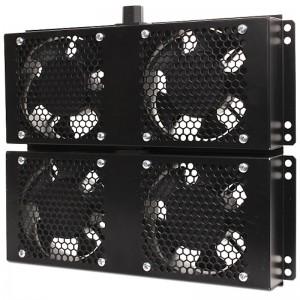 """Panel wentylacyjny 19"""" do szaf stojących Getfort 600x800, 600x1000, 4 wentylatory"""