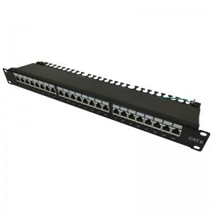"Patch panel LED STP 19"" 24x RJ45 kat.6 tacka złącza KRONE"