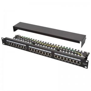 "Patch panel STP 19"" 24x RJ45 kat.6 z podstawką"