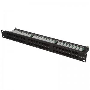 "Patch panel UTP 19"" 48x RJ45 kat.5e, 1U tacka"