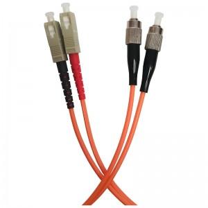 Patchcord światłowodowy wielomodowy, SC/PC-FC/PC, OM2 MM 50/125, duplex, 1m