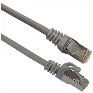 Patchcord S/FTP kat.7 1,0m szary (LSOH)