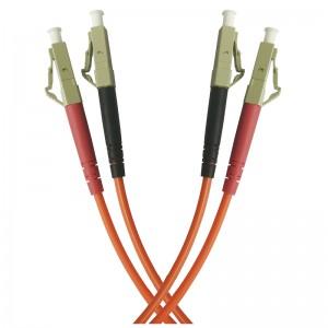 Patchcord światłowodowy wielomodowy, LC/PC-LC/PC, MM 50/125, duplex, 1m