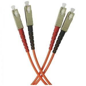 Patchcord światłowodowy wielomodowy, SC/PC-SC/PC, MM 50/125, duplex, 0,5m