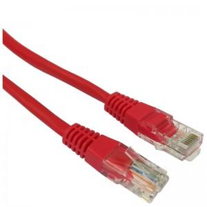 Patchcord U/UTP kat.5e 1,0m czerwony