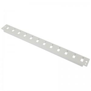 Płyta czołowa 1U, 12x SC simplex / LC duplex, szara (Base Link)