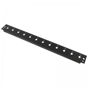 Płyta czołowa 1U, 12x ST simplex, czarna (Base Link)