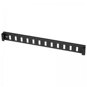 Płyta czołowa 1U, 12x SC duplex / LC quad, czarna (Stalflex)