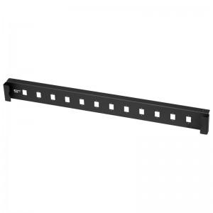 Płyta czołowa 1U, 12x SC simplex / LC duplex, czarna (Stalflex)