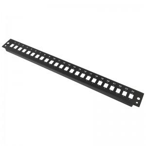 Płyta czołowa 1U, 24x SC simplex / LC duplex, czarna (Base Link)