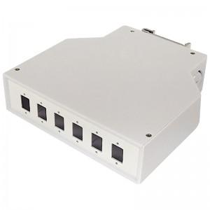 Przełącznica światłowodowa na szynę DIN, 6x SC simplex / LC duplex