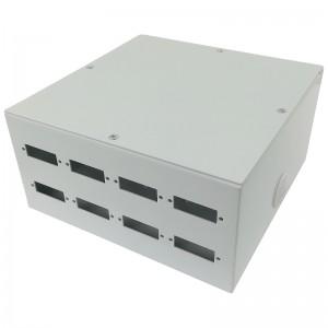 Przełącznica światłowodowa naścienna, 8x SC duplex / LC quad