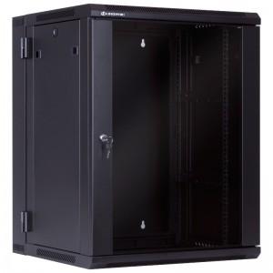 """Szafa rack 19"""" 15U 600x550, wisząca, z szybą, dwusekcyjna (Linkbasic WCC15-655-BAA-C)"""