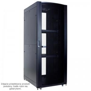 """Szafa rack 19"""" 42U 600x1000, stojąca, perforowana, czarna, szybki montaż (Linkbasic NCI42-610-KLA-C)"""