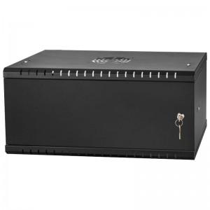 """Szafa rack 19"""" 4U 525x450, wisząca, metalowa, jednosekcyjna, czarna (Stalflex)"""