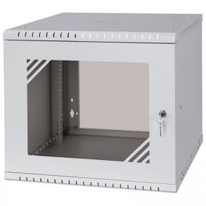 """Szafa rack 19"""" 9U 525x450, wisząca, z szybą, jednosekcyjna, szara (Stalflex RC19-9U-450GGP)"""