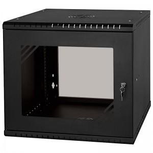 """Szafa rack 19"""" 9U 525x450, wisząca, z szybą, jednosekcyjna, czarna (Stalflex RC19-9U-450GBP)"""