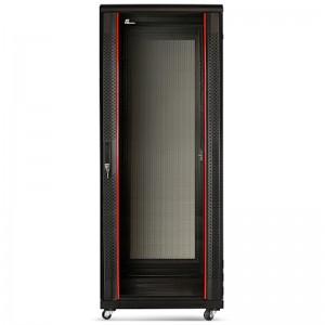 """Szafa rack 19"""" 37U 600x800, stojąca, z szybą, czarna (Getfort SGF37-68EH-SGB)"""