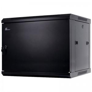 """Szafa rack 19"""" 9U 600x600, wisząca, matalowa, jednosekcyjna, czarna"""