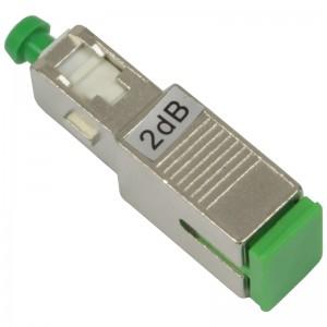 Tłumik optyczny SC/APC 2dB, typu adapterowego (Base Link)