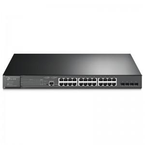 "TP-Link TL-SG3428MP, 24xGE PoE+ 384W, 4xGE SFP, konsola, 19"""