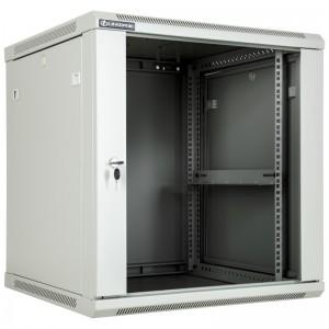 """Szafa rack 19"""" 12U 600x600, wisząca, z szybą, jednosekcyjna, szara (Linkbasic WCB12-66-BAB-C)"""