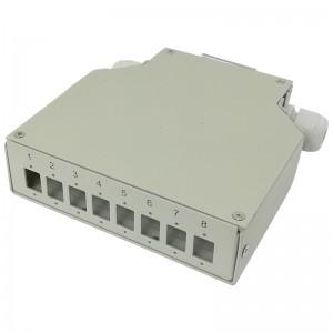 Przełącznica światłowodowa na szynę DIN, 8x SC SX